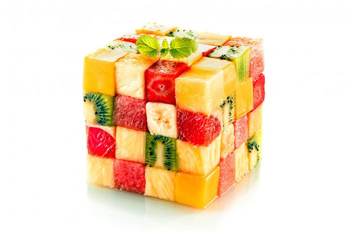 Модульная картина Кубик фруктов