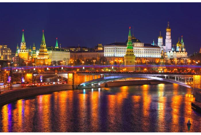 Модульная картина Ночной Кремль