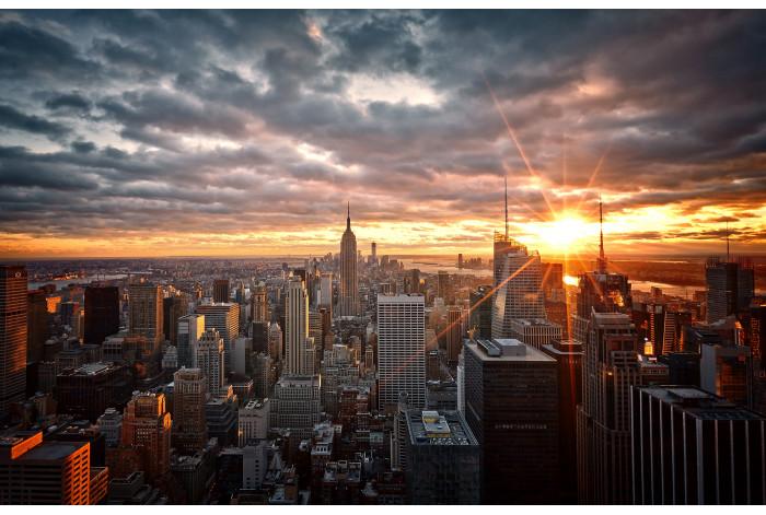 Модульная картина Закат в Нью-Йорке