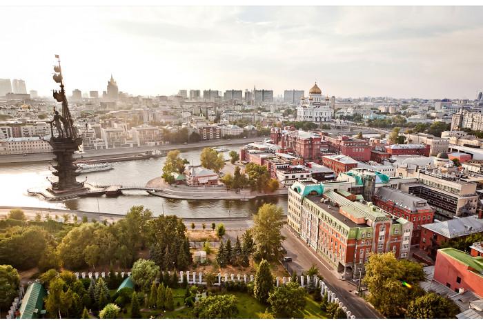 Модульная картина Москва на рассвете