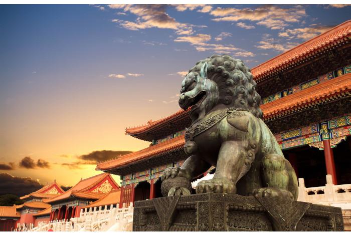 Модульная картина Статуя Китайская