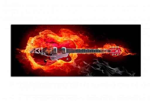Фотокартина пылающая гитара