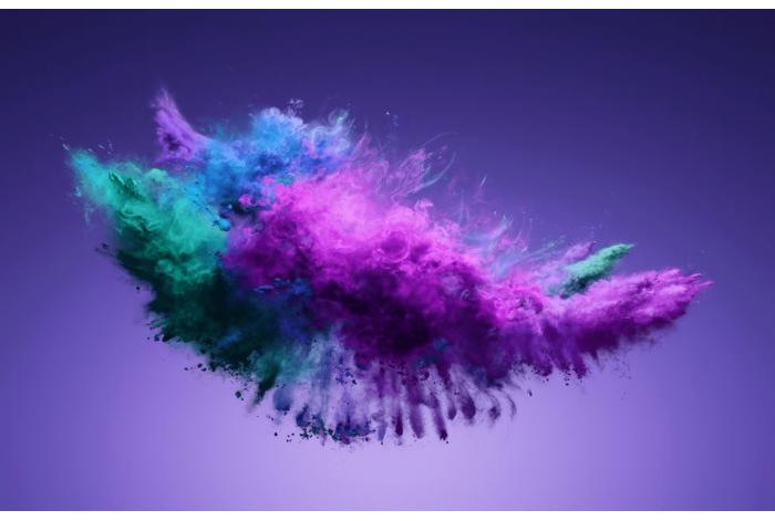 Модульная картина Фиолетовые краски