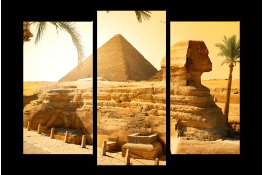 Модульная картина Чудо света Пирамиды и Сфинкс