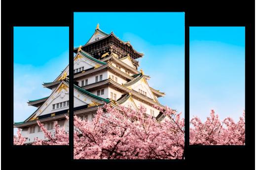 Модульная картина Самурайский замок