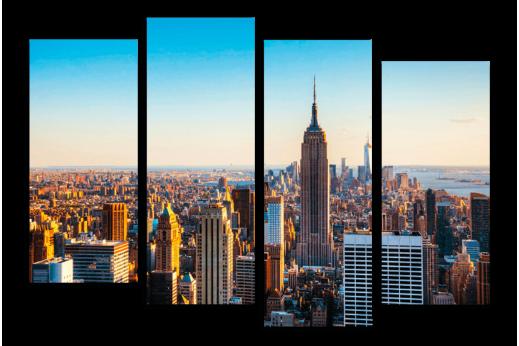 Модульная картина  Утренний Нью-Йорк
