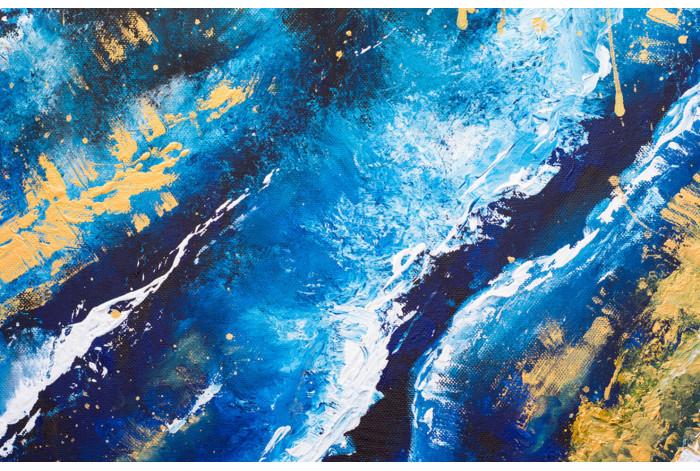 Модульная картина Текстура синяя