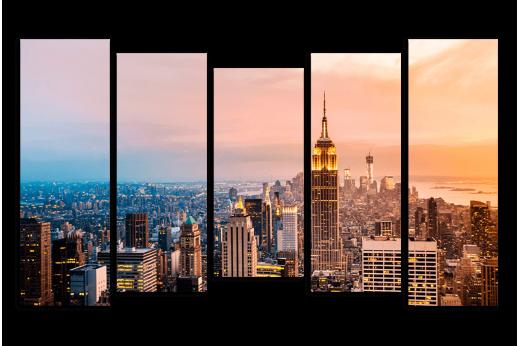 Картина Нью-Йорк на закате