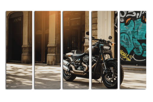Модульная картина Мотоцикл Harley-Davidson