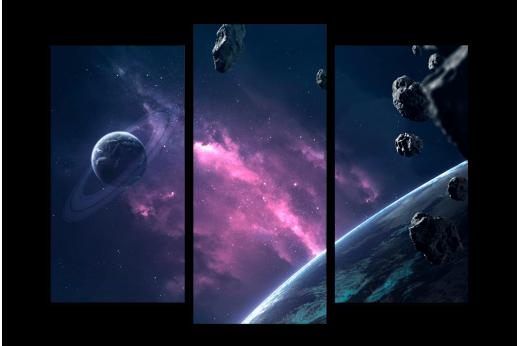 Модульная картина Астероиды