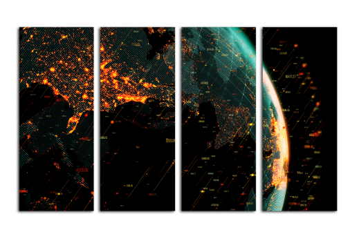 Модульная картина Глобальная сеть