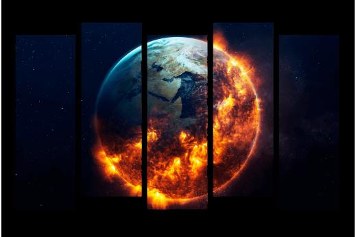 Модульная картина Земля в огне