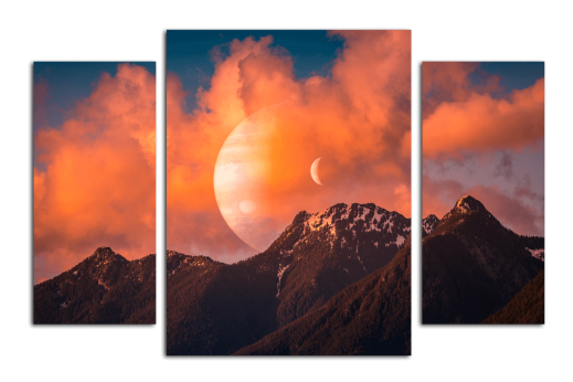 Модульная картина Планеты в тумане