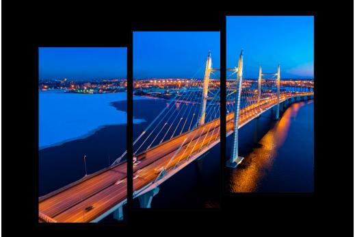 Модульная картина Большой мост в Питере