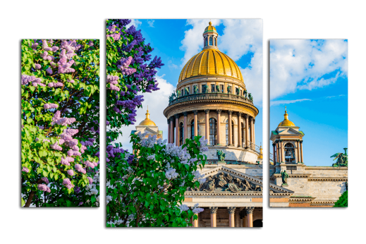 Модульная картина Весна в Петербурге