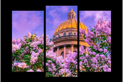 Модульная картина Весна в Санкт-Петербурге