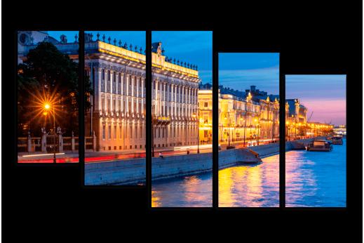 Модульная картина Дворцовая набережная
