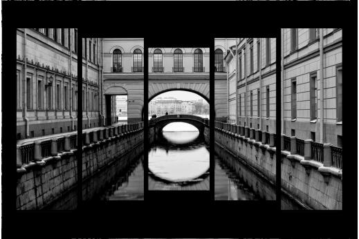 Модульная картина Каналы Питера