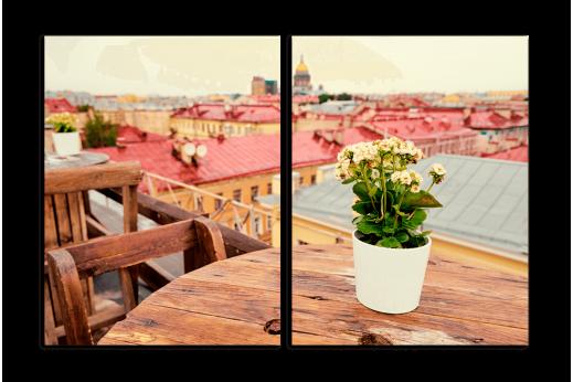 Модульная картина Питерские крыши