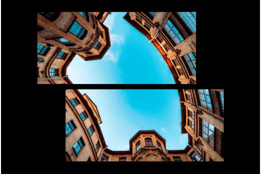 Модульная картина Питерский дворик