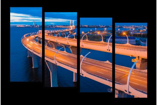 Модульная картина Питерский мост