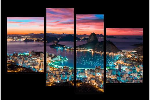 Модульная картина Вечерний Рио