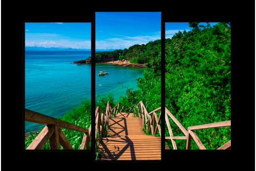 Модульная картина Лестница на пляж