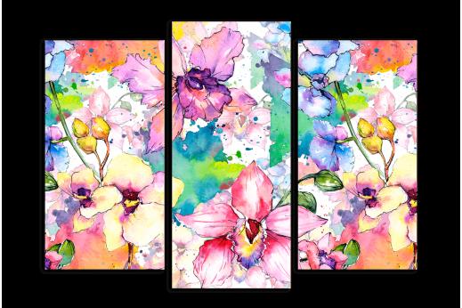 Модульная картина Красочные орхидеи