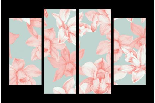 Модульная картина Милые цветы