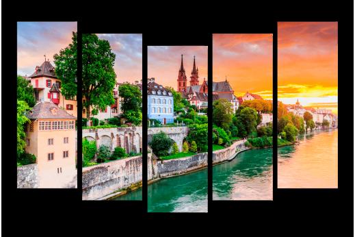 Модульная картина Рейн на закате