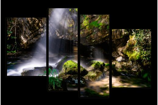 Модульная картина Зеленый водоем