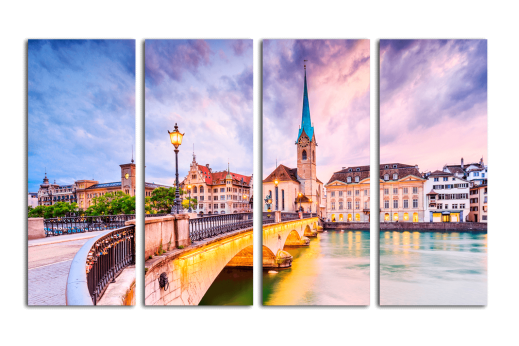 Модульная картина Красоты Швейцарии