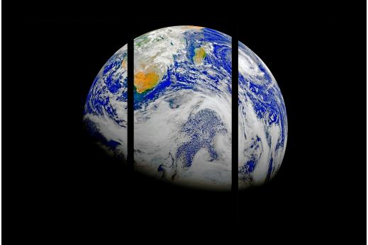 Модульная картина Земной шар