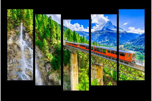 Модульная картина Путь в Швейцарию