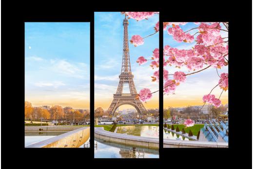 Модульная картина Весна в Париже