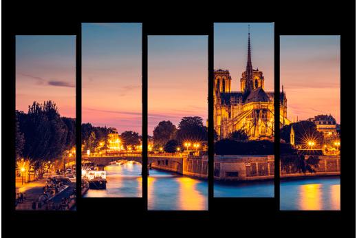 Модульная картина Вечерний Париж