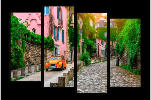 Модульная картина Красочные французские улицы