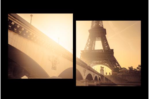 Модульная картина Необыкновенный Париж