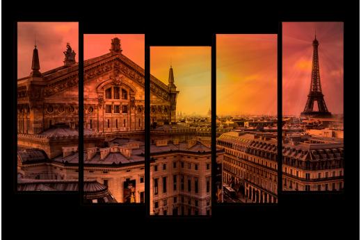 Модульная картина Нереальный Париж