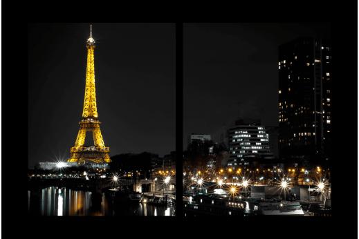 Модульная картина Ночь в Париже