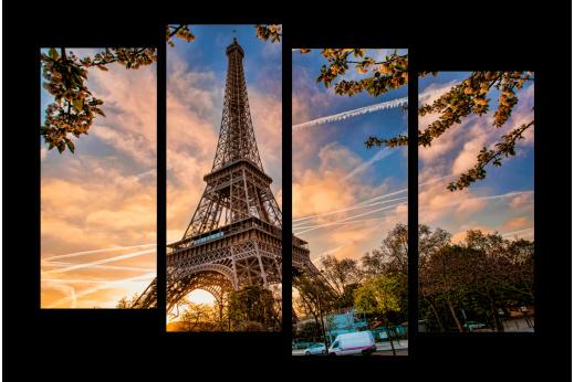 Модульная картина Осенний Париж