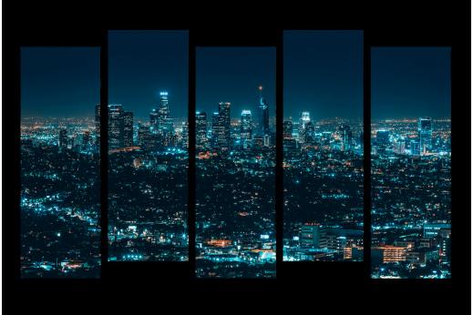 Модульная картина А город не спит