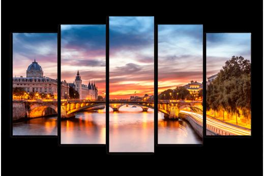 Модульная картина Вечерний мост