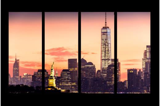 Модульная картина Высотки Нью-Йорка