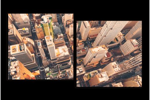 Модульная картина Городские кварталы