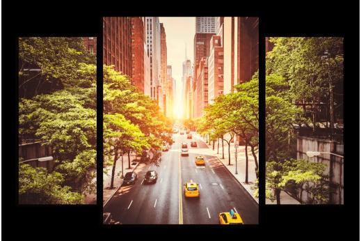 Модульная картина Дорога на Манхэттен