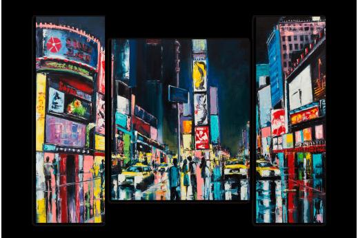 Модульная картина Краски города