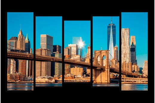 Модульная картина Мост в Бруклине