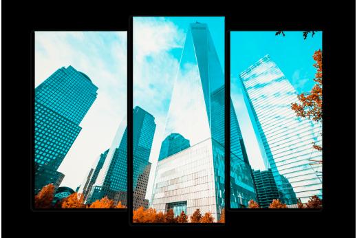 Модульная картина Мощь небоскребов