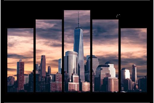 Модульная картина Нью-Йорк Сити